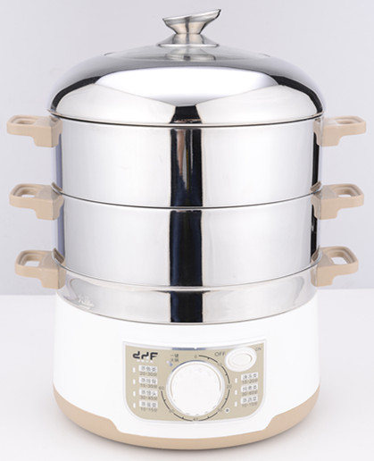 1300W electric adjustable 3 tier steamer for food