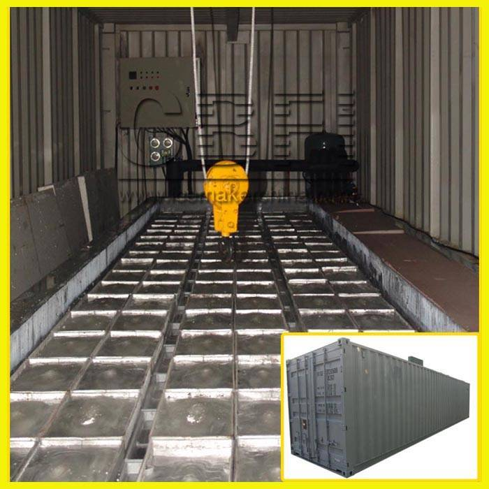 containerized ice block making