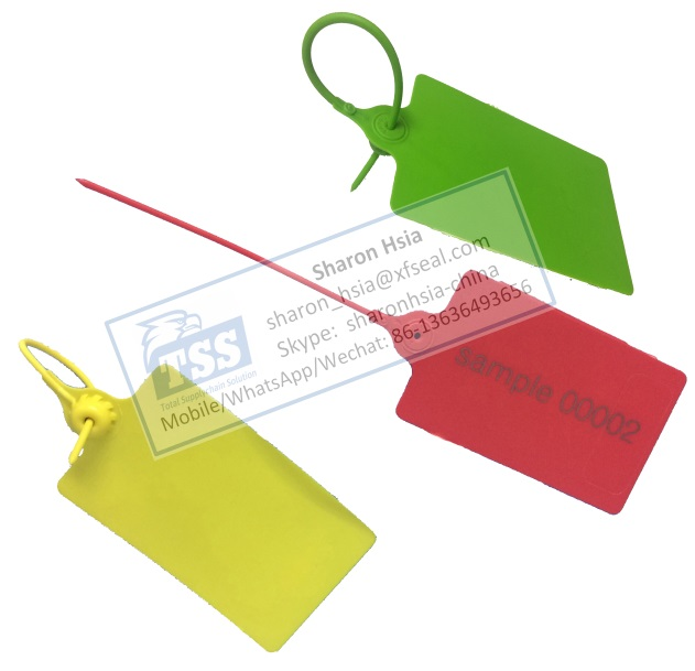 Large Flag Pull-tight Plastic Seal Logistics Security Seal Plastic Tag Model No. RTPS250-BIGFLAG