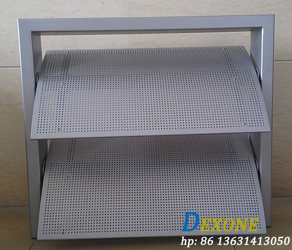 Aerowing perforated acoustic aluminum louver for facade