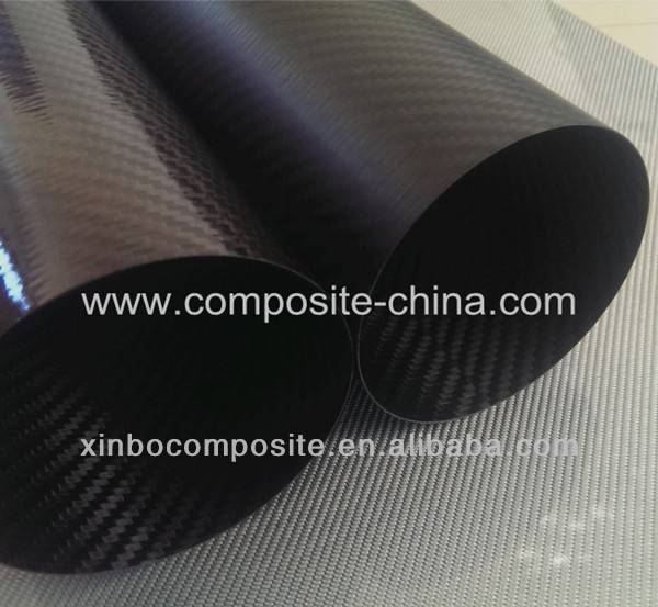 Supplying carbon fiber tubes,large diameter carbon fiber tube.