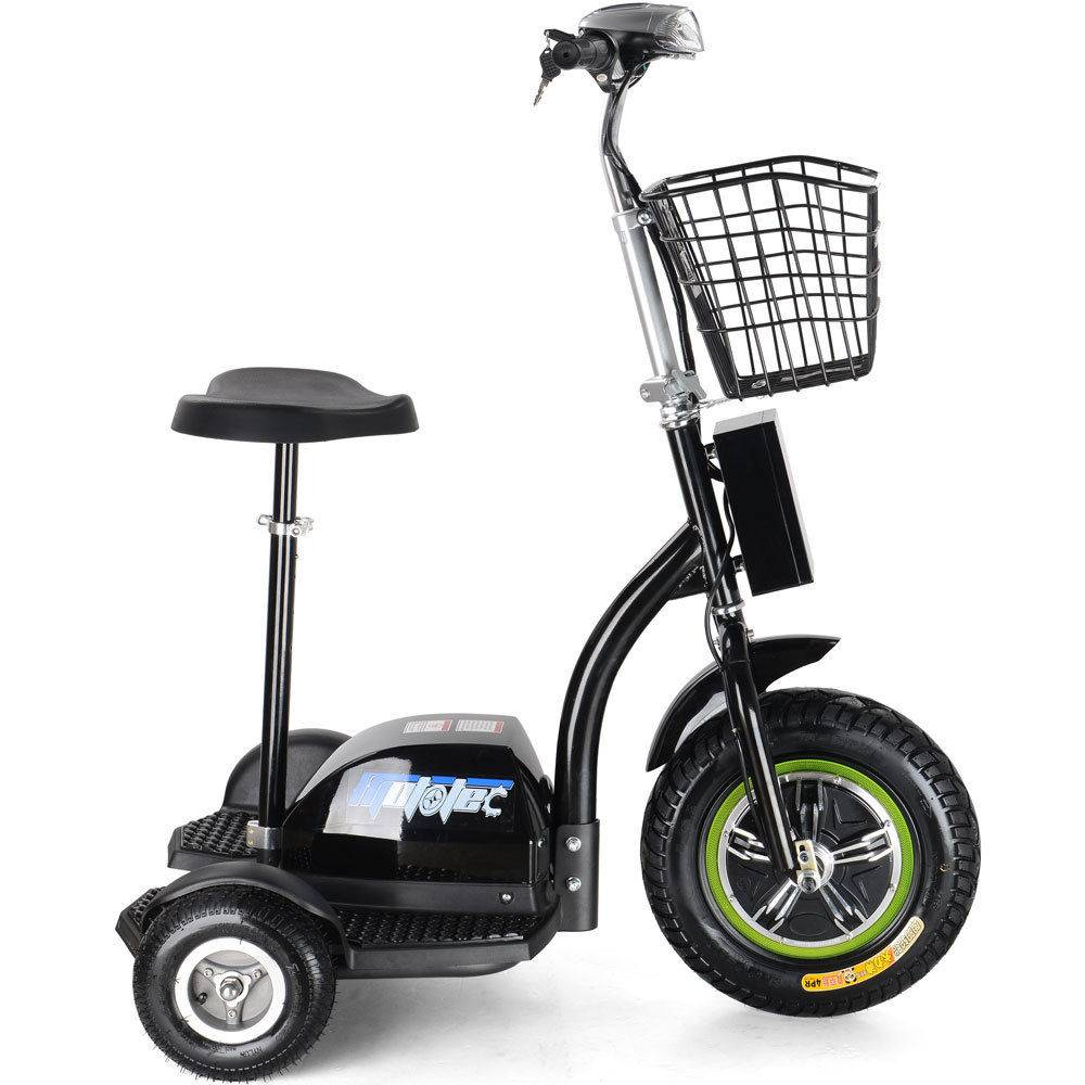 3 wheel battery operated 48v 500w electric transport mobility scooter trike