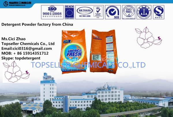 OEM high quality best price America Detergente de polvo detergent powder washing powder