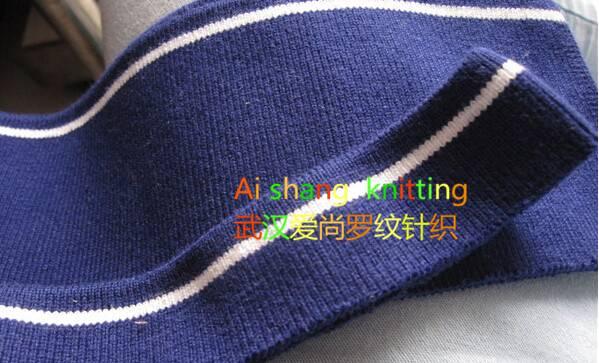 knit rib cuff Jacket cuff/T shirt collar