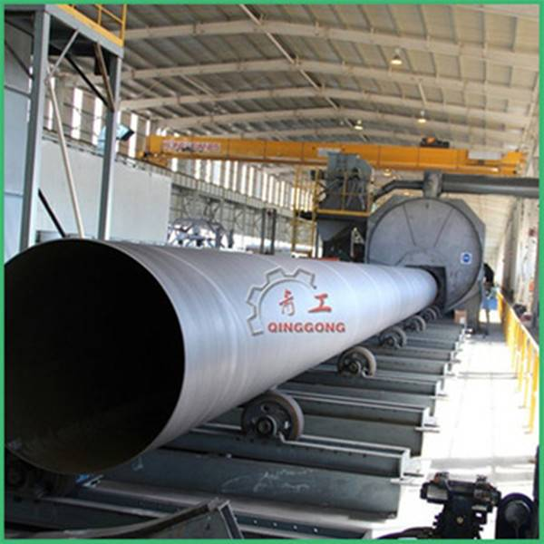 High Efficiency Roller Conveyor Shot Blasting Equipment for pipe