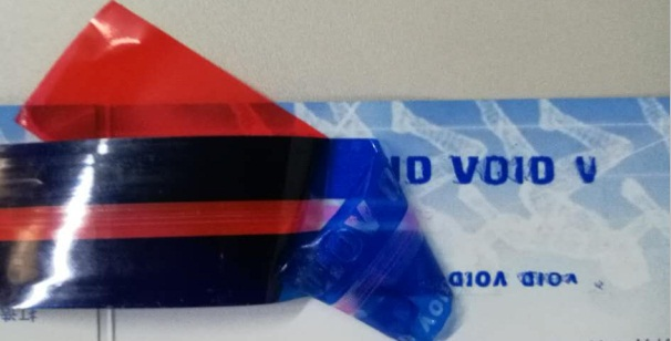 security seal tape for the closing of evidence bags