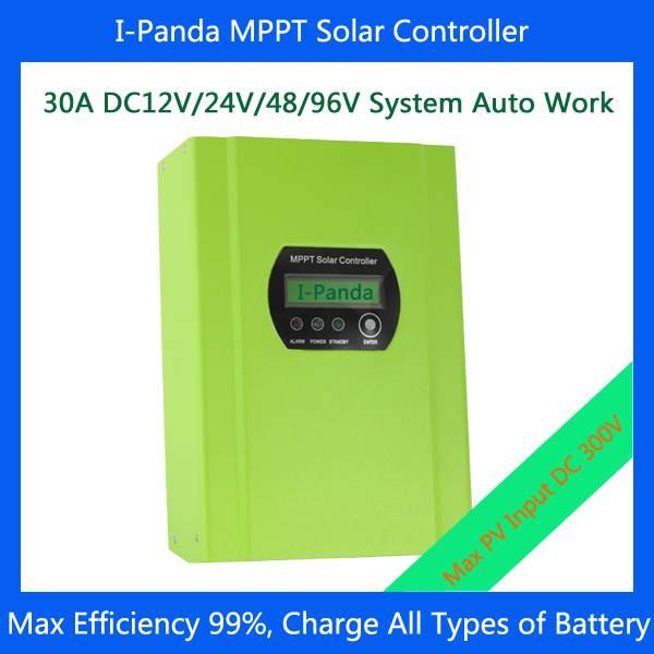 MPPT Solar charge controller 96V 30 Amps /30A MPPT solar charge controller 30a 48V/96V system auto r