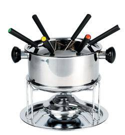 Stainless steel chocolate fondue set