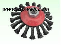 Knotted Wire Bevel Brush (PW602)