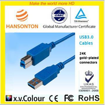 USB 3.0 CABLE A male to B male with blue color