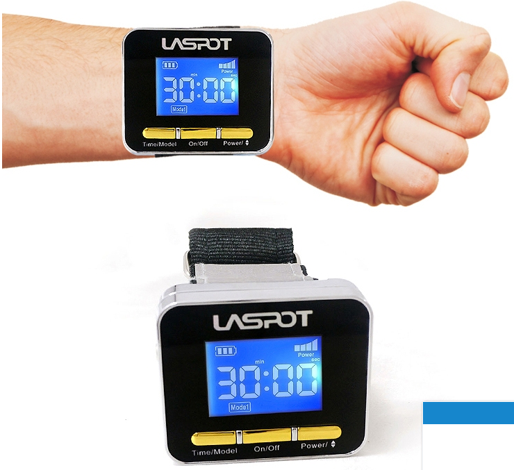 Physical laser therapy watch LASPOT to prevent cardiovascular disease.