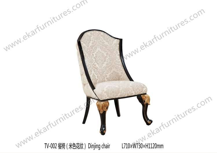 Wooden carved dining chair antique wooden carved back chair TV-002