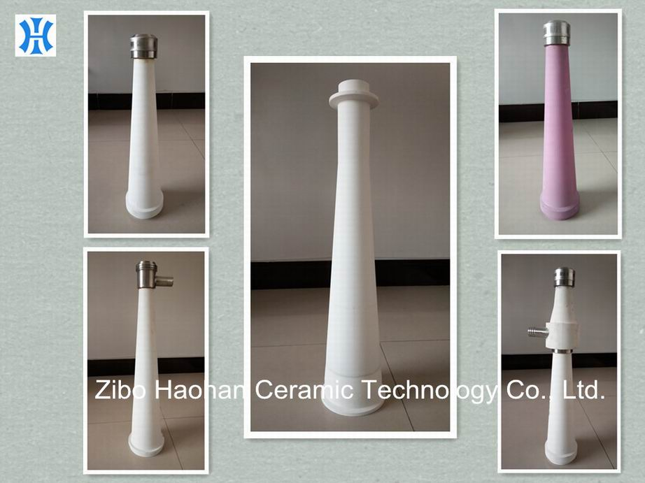 Wear resistant alumina ceramic cone for stock stuff cleaner of paper machinery