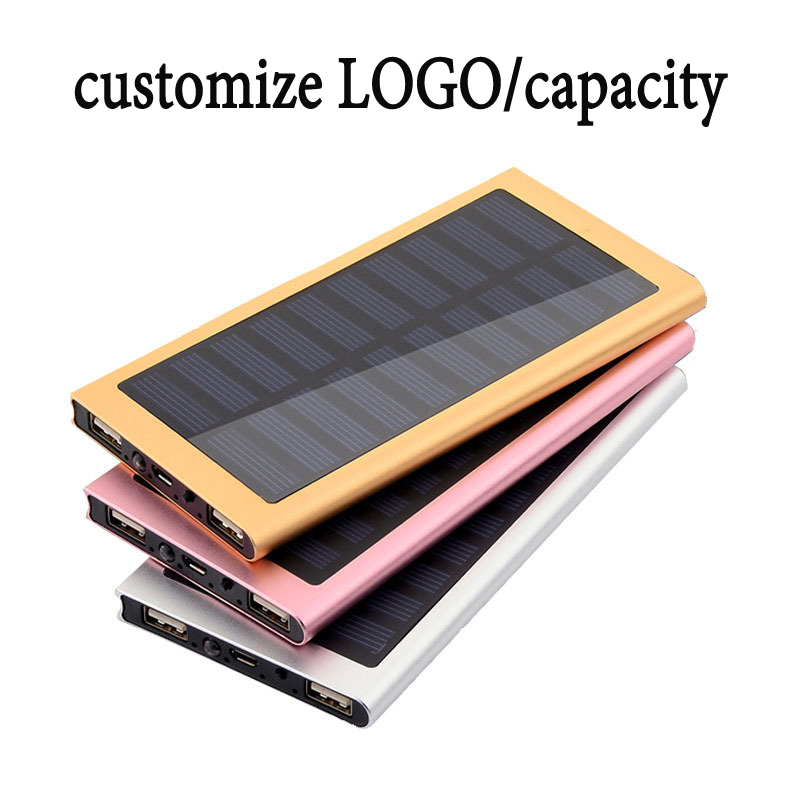 wholesale custom logo 10000mah solar mobile phone charger