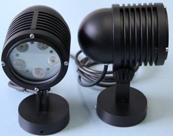 Round DMX512 LED Garden Light RGB 24V Lawn Lamp