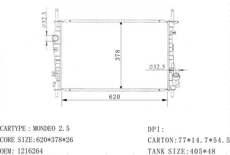 ford radiator: 1216264