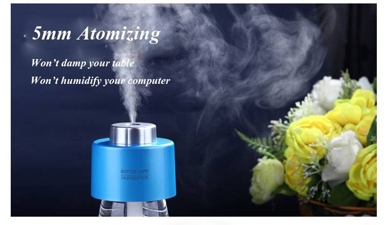 China manufacturer 5V USB Ultrasonic bottle caps air purifier