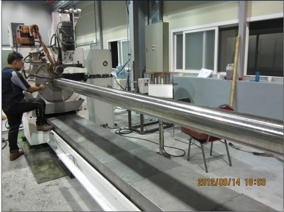 Water purifying mesh welding machine