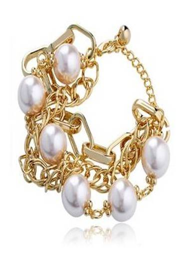 Sell t Gold Plated Imitation Pearl Bracelet,jewelry
