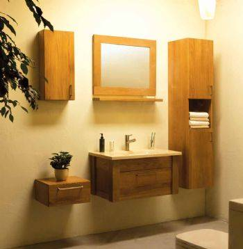yellow color Wall-mounted Bathroom Caibnet