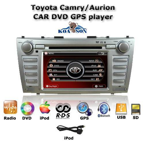 New 8 inch Car DVD GPS Navigation Player For Toyota Camry