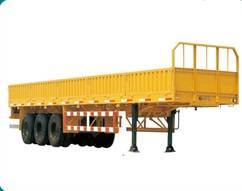 3 axle cargo flat bed semi trailer