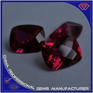 High Quality Rose Red Artificial Ruby