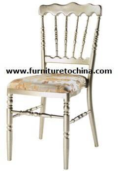 chateau chair, napoleon chair, imitated bamboo seat, classical ballroom dining furniture