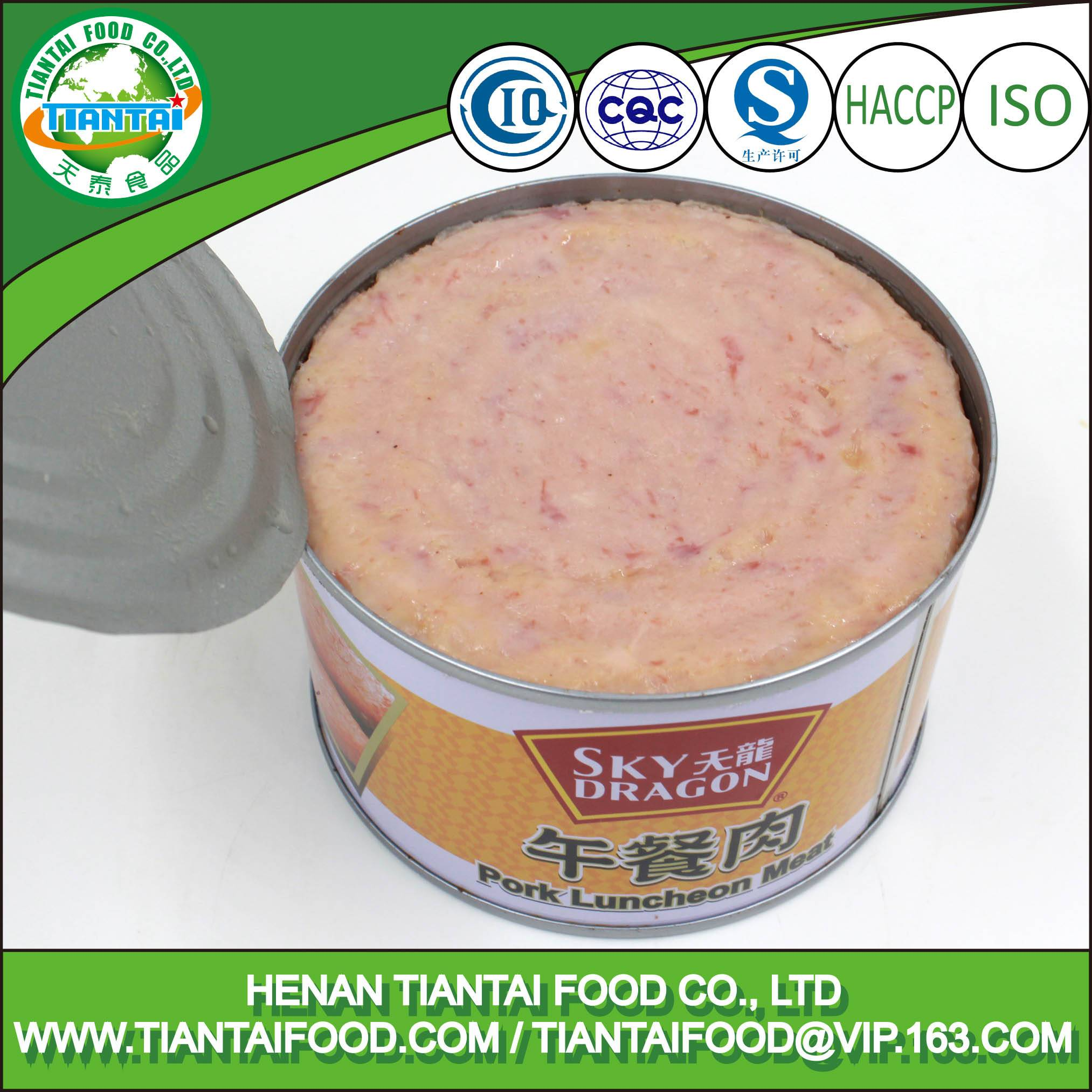 bulk chinese food canned pork luncheon meat