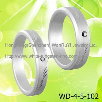 Couple's Wedding Ring White Tungsen RIng