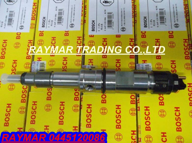 Bosch common rail injector 0445120086 for WEICHAI 612630090001