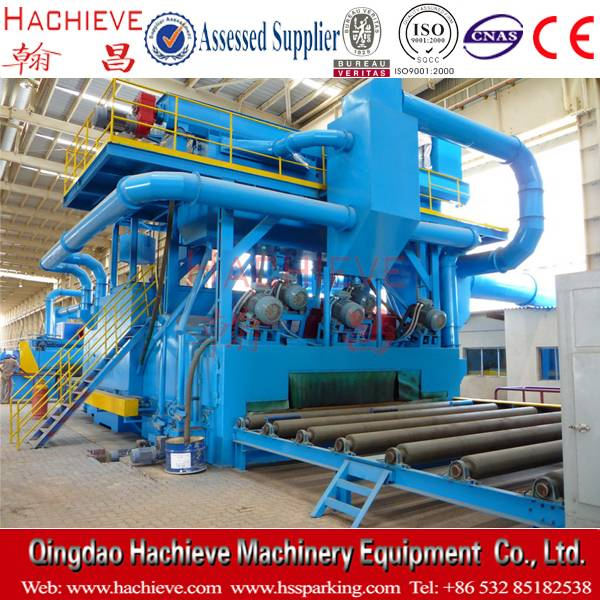 Steel plate rust shot blasting cleaning machine for sale