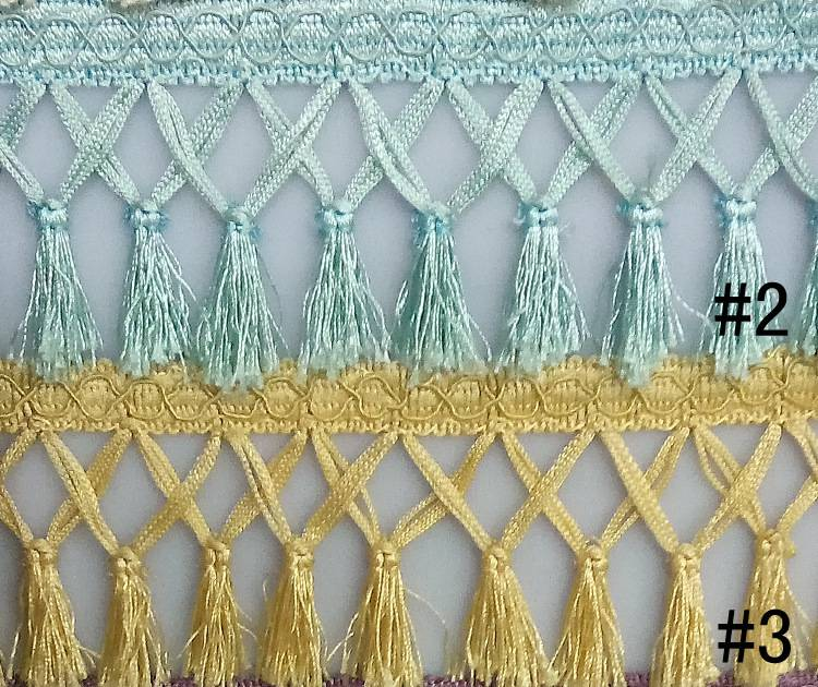 CH-10010 Tassel Fringes for curtain ,pillow, blanket decoration
