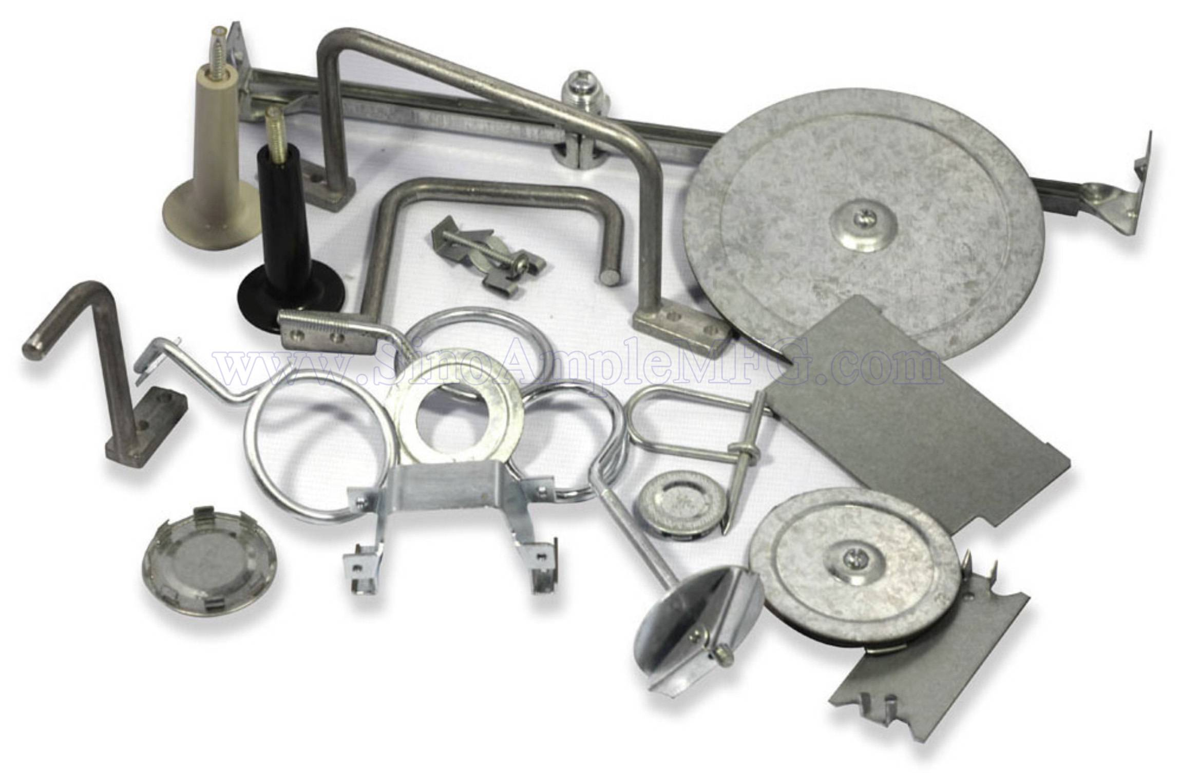 Stamped hangers/clamps/hooks