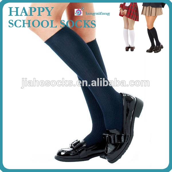 Custom Knee High Student Socks,School Uniform Socks