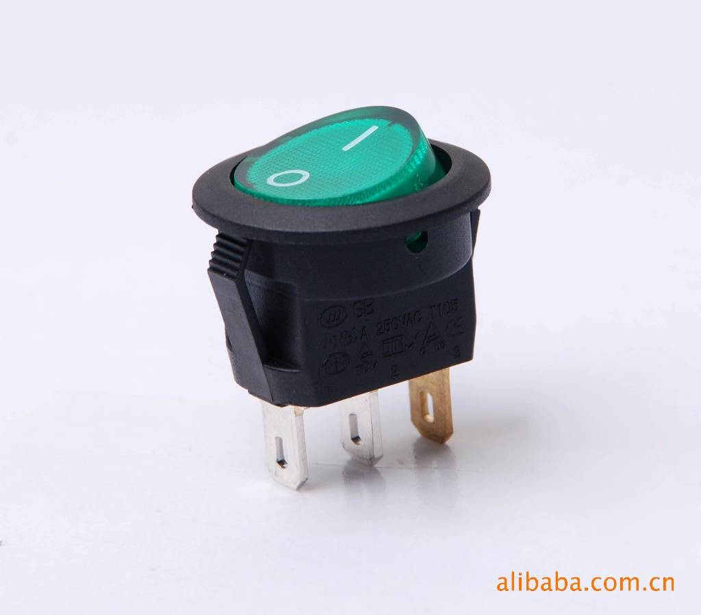 16A Waterproof Electrical Rocker Switch With Neon