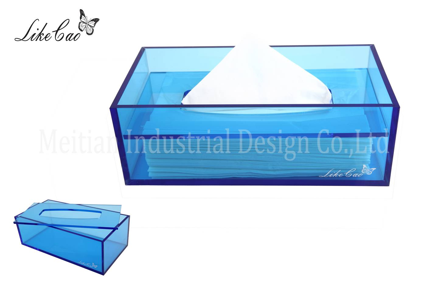 modern color transparent acrylic tissue box