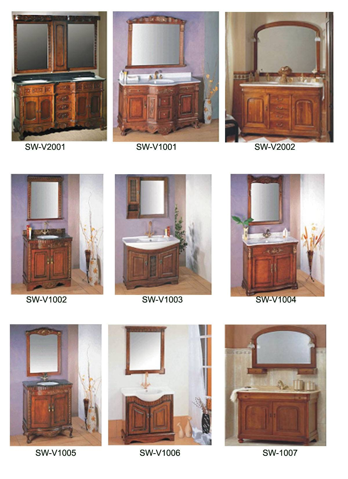 Sell Classical Solid wood Bathroom Cabinet