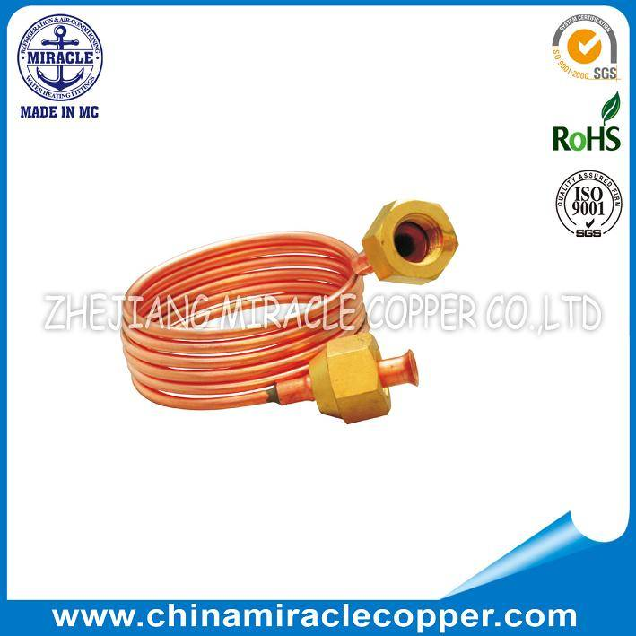 Refrigeration Parts Capillary Tube With Nuts