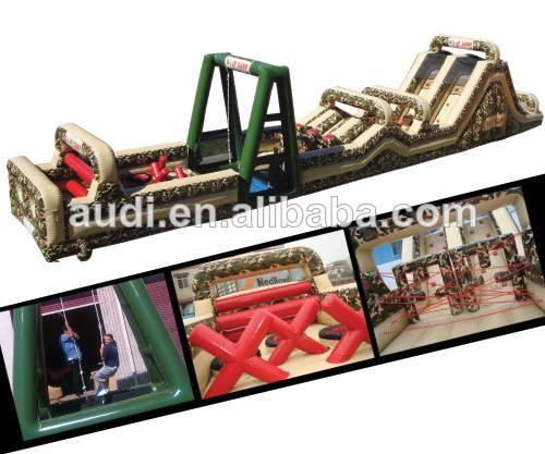 HOT Military Challenge Inflatable Obstacle Course,inflatable amusement game park
