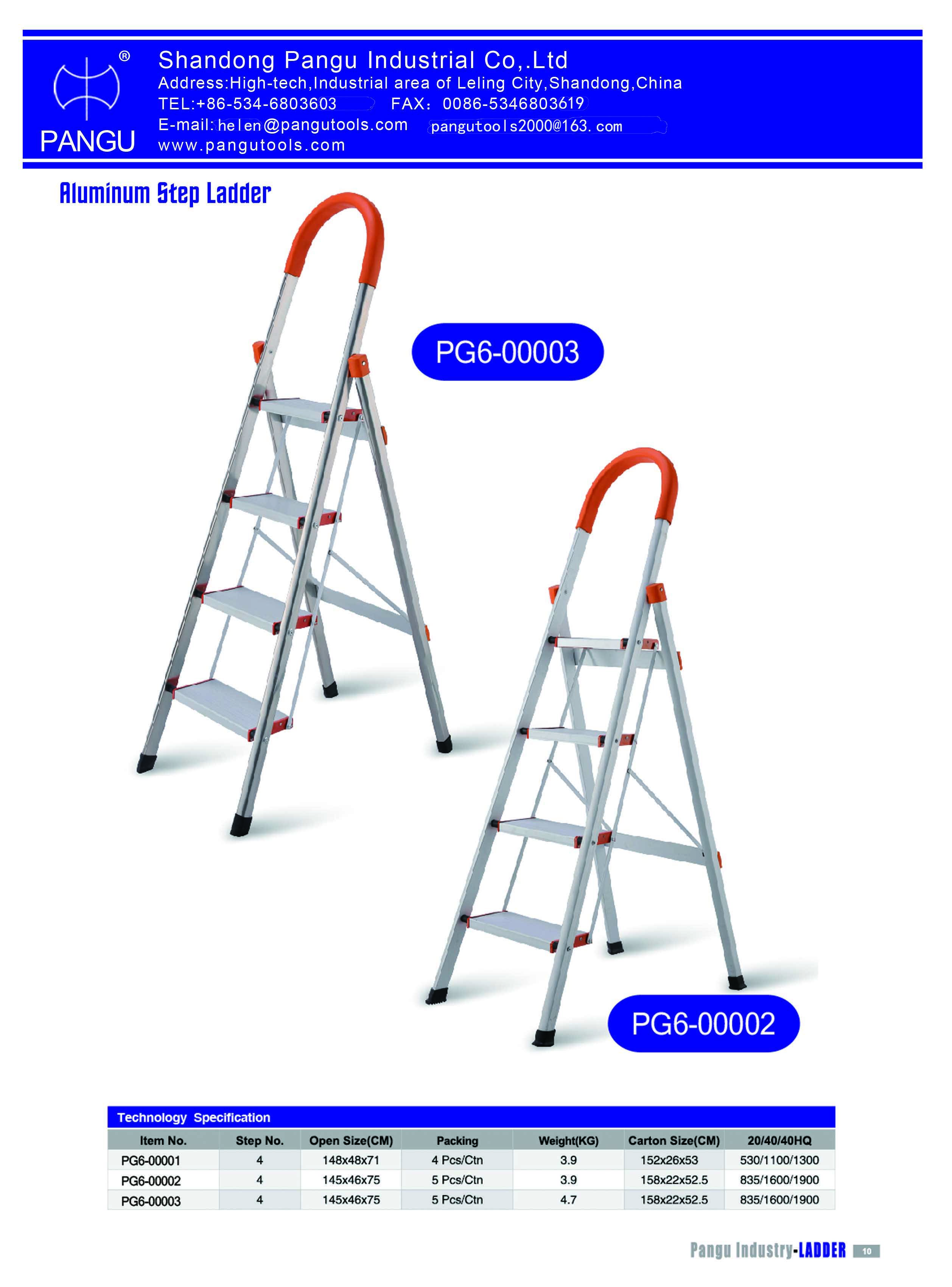 Aluminum step ladder, housework ladder, 5 step