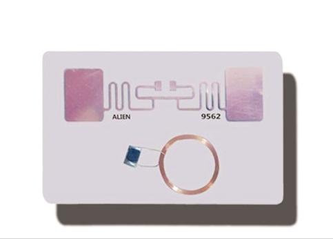 860~960Mhz UHF card 13.56 MHZ RFID/NFC PVC combi/hybrid card