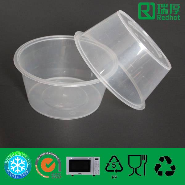 Disposable Clear Plastic Lunch Box Take Home 1250ml