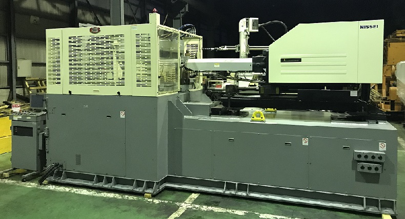 Nissei 220ton Hybrid-type Used Parting Injection Molding Machine is available for sale.