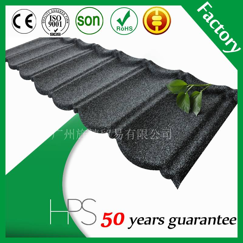 High quality 50 years warranty Colorful stone coated metal roof tiles
