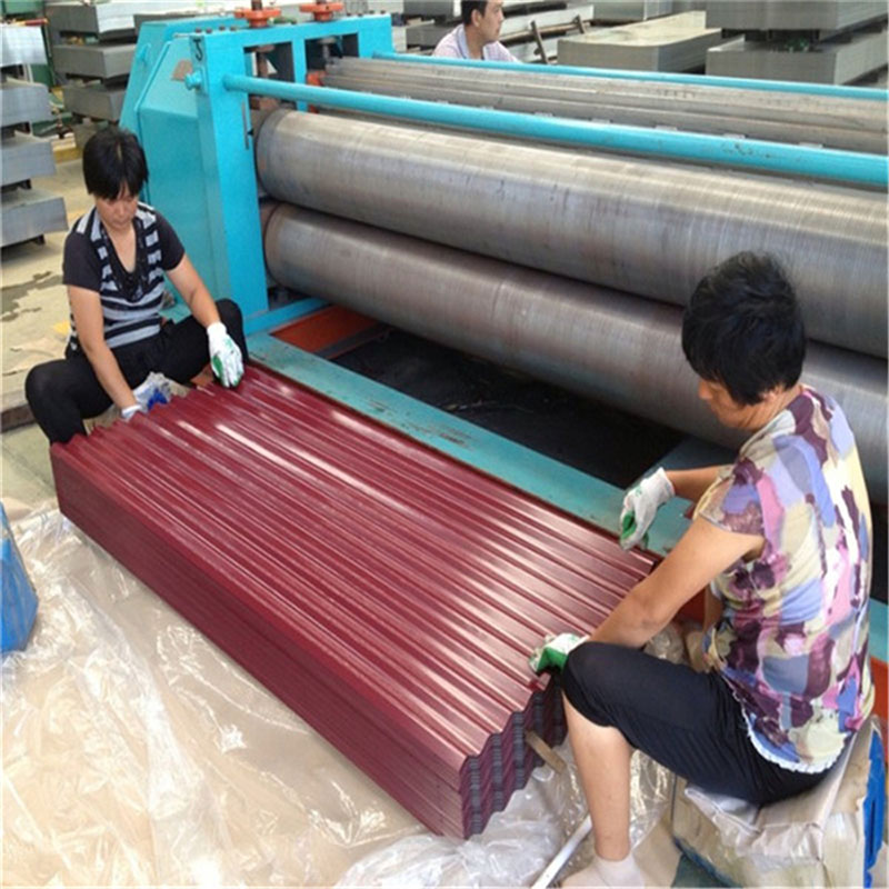 PPGI/PPGL Embossed Color Coated Corrugated Steel Building Roof Material