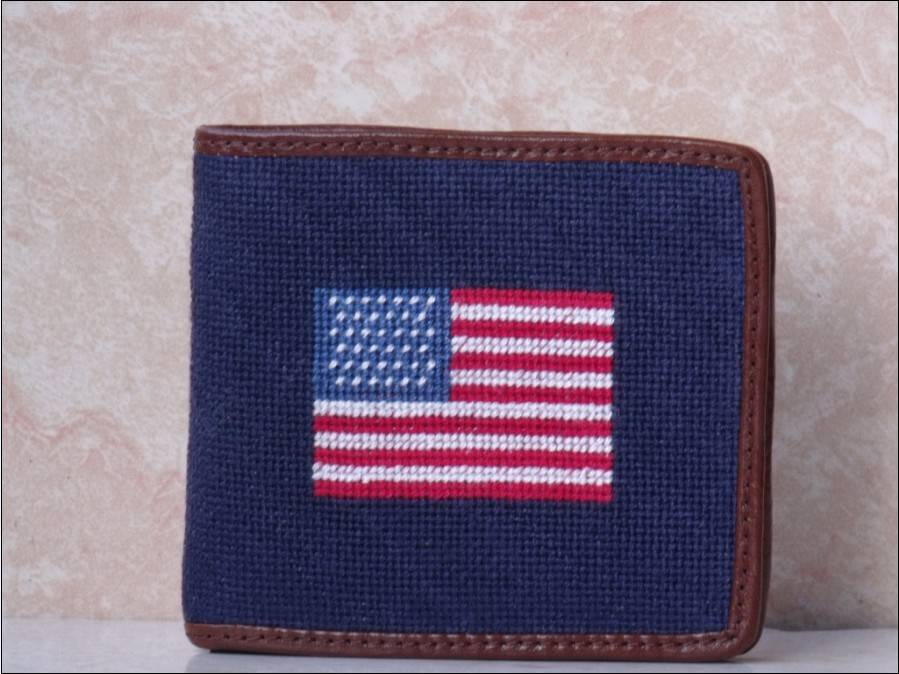 Needlepoint Wallets Made of Genuine Cow Leather Customized Designs and Colors are Welcome