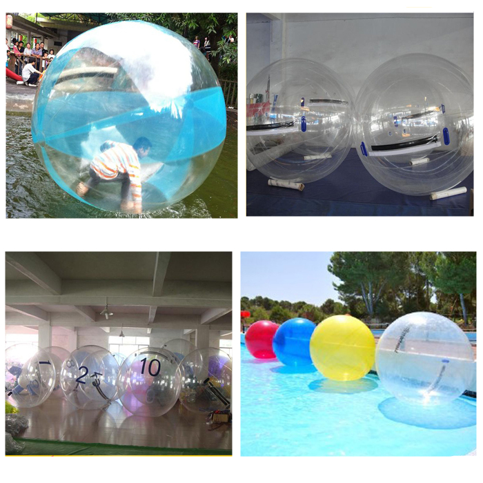 Inflatable water balls for recreation pools