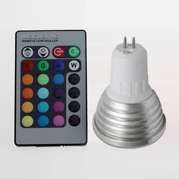 2014 new product led rgb spotlight low power consumption led rgb bulb, 3w led ligh