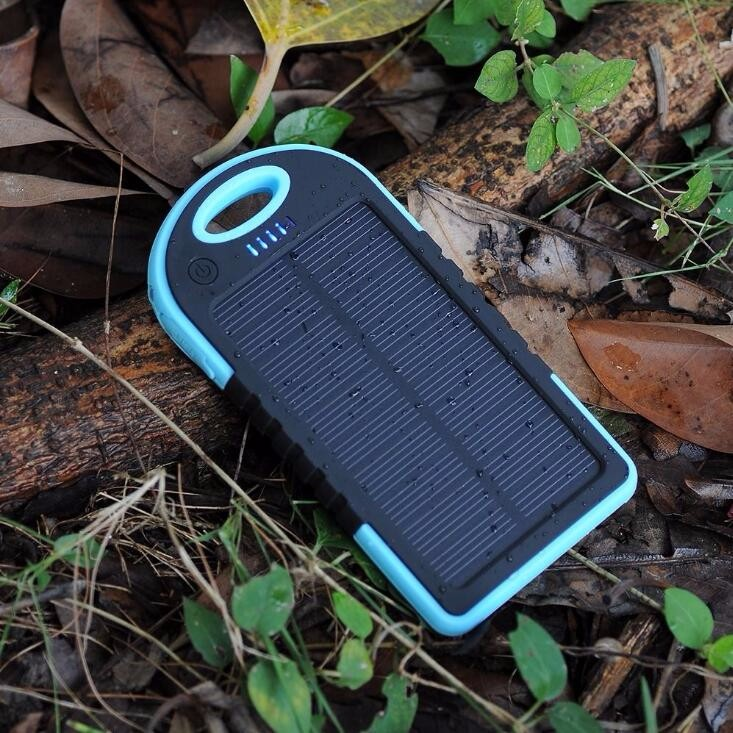5000mah portable emergency mobile phone solar panel charger